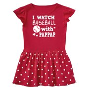 I Watch Baseball with My Pappap Toddler Dress