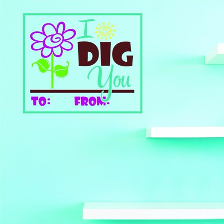 Custom Decals I Dig You Wall Art Size: 18 X 18 Inches Color: Multi - I Dig You