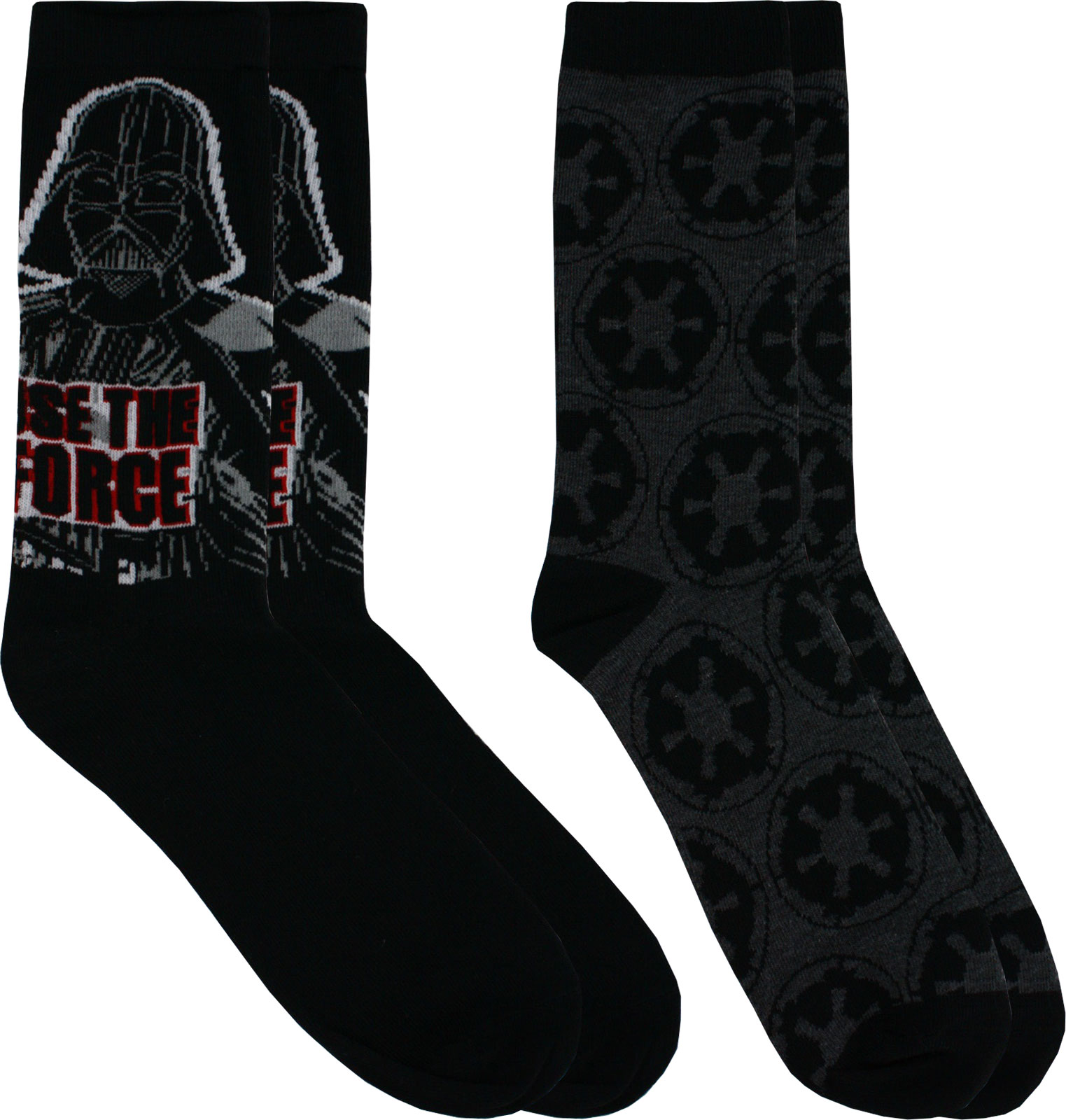 Star Wars Darth Vader & Empire Casual Pair of Crew Socks