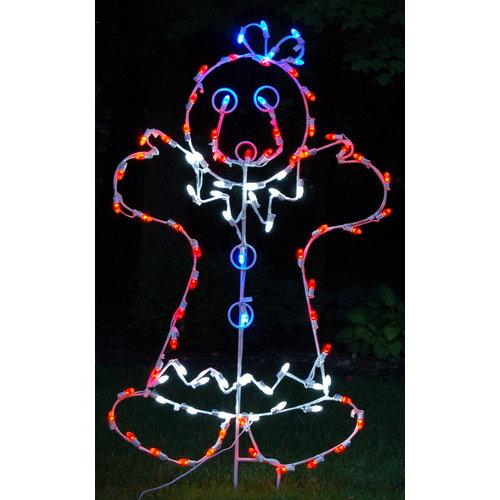 Christmas at Winterland WL-GM110-LED LED Light Mrs Gingerbread Woman