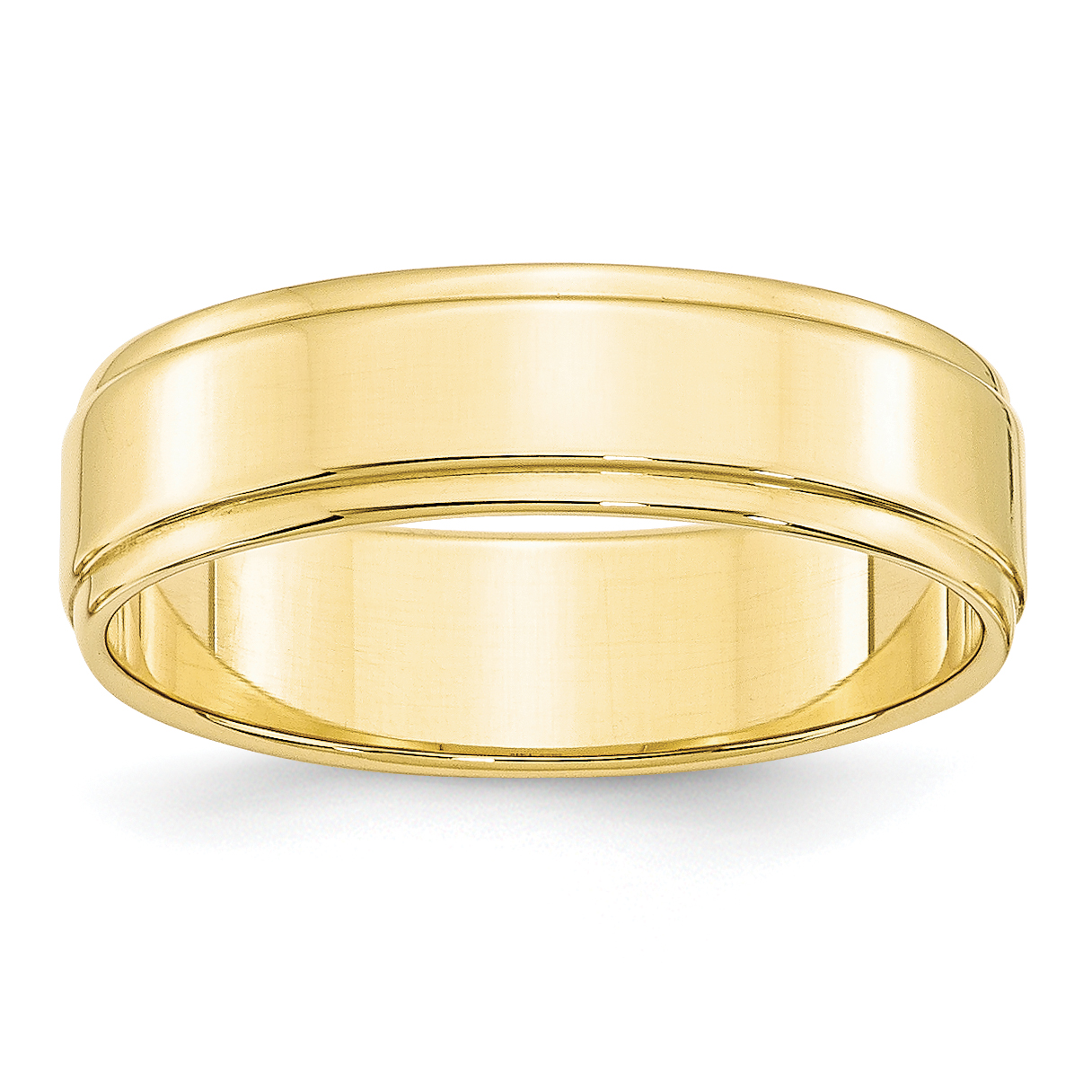 10K Yellow Gold 6mm Flat with Step Edge Band Size 13 - image 3 de 3