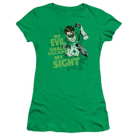 Green Lantern - No Evil - Juniors Teen Girls Cap Sleeve Shirt - XX-Large](Green Lantern Girl)