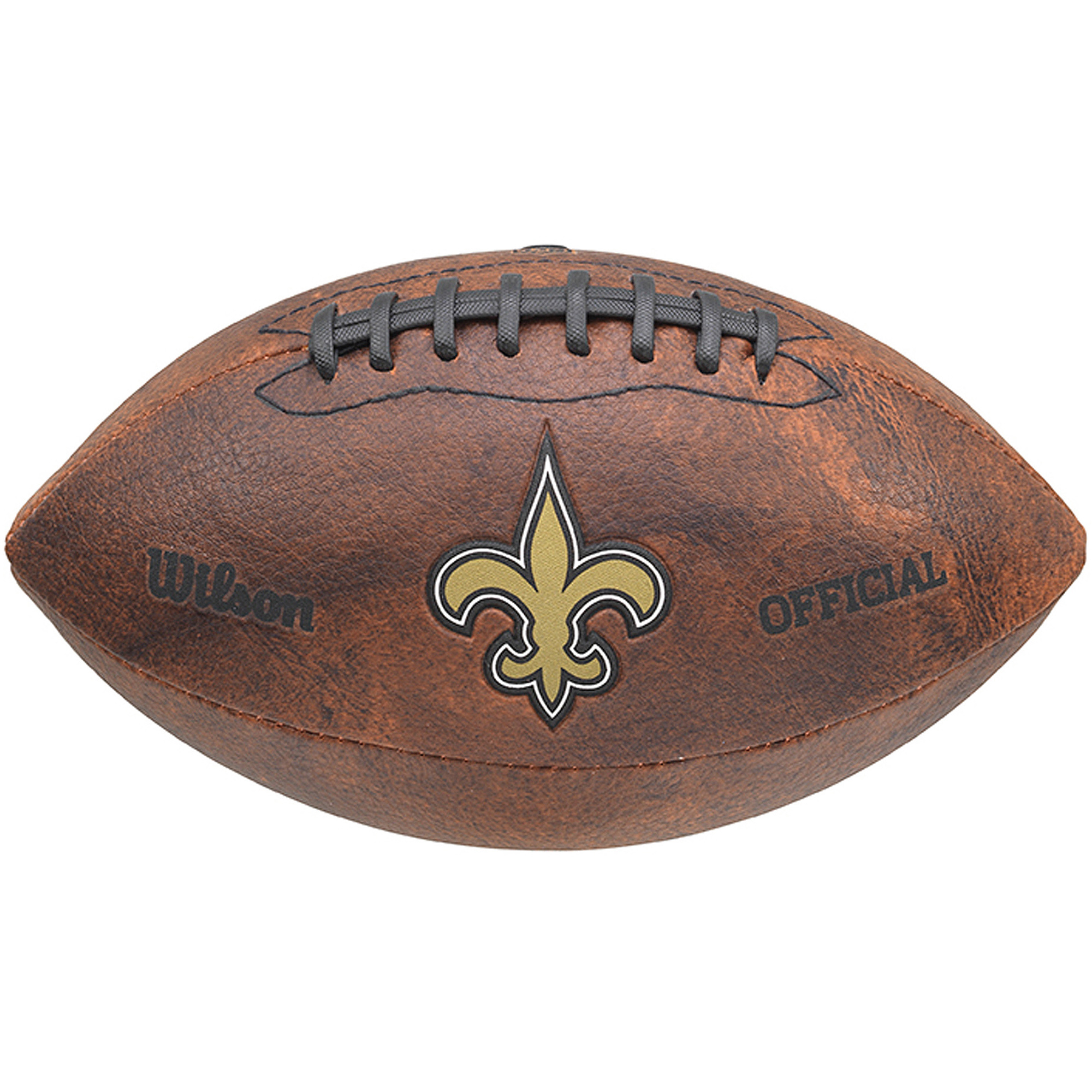 """Wilson NFL 9"""" Color Throwback Football, New Orleans Saints by Gulf Coast Sales"""