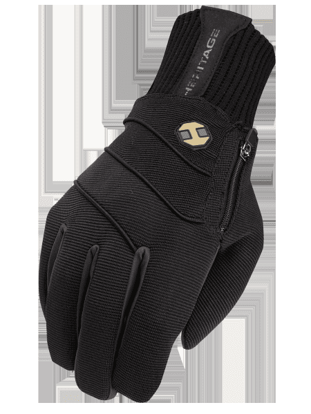04 SIZE HERITAGE EXTREME WINTER HORSE RIDING EQUESTRIAN GLOVE BLACK by Heritage Gloves
