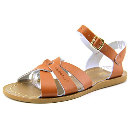 Sun-San Saltwater Salt Water Youth  Open-Toe Leather Tan Slingback Sandal