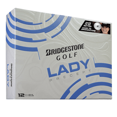 Bridgestone Golf Lady Precept Golf Balls, 12 Pack