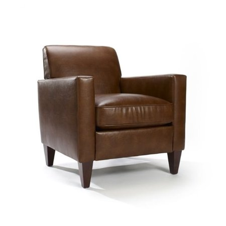 Excellent Homeware Rolly Saddle Brown Leather Blend Arm Chair Creativecarmelina Interior Chair Design Creativecarmelinacom