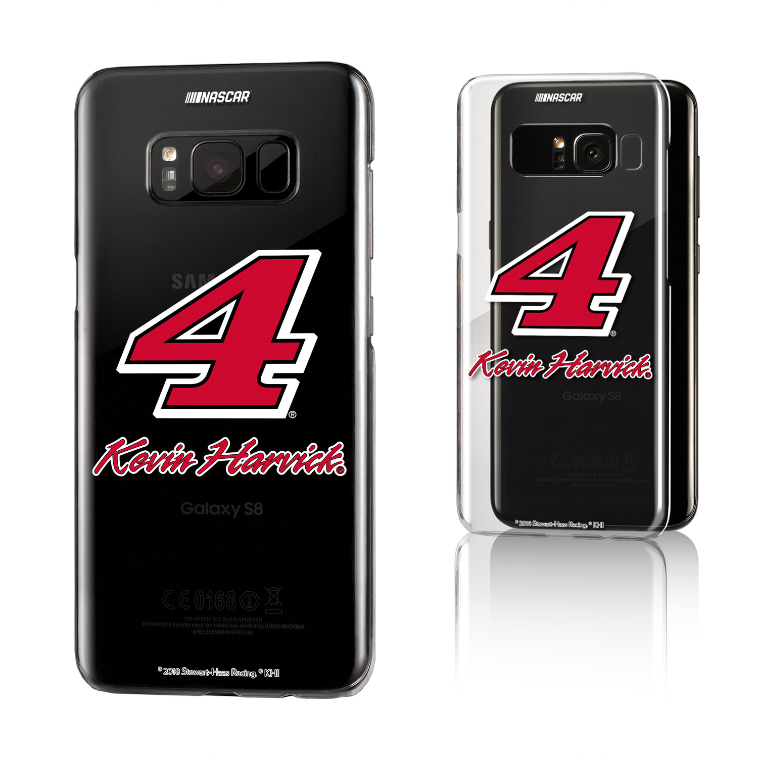 Kevin Harvick Insignia Clear Case for Galaxy S8