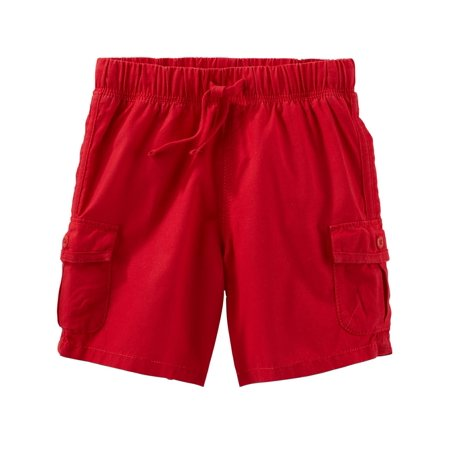 OshKosh B'gosh Little Boys' Pull-On Shorts, Red, 5-Toddler](Red Boy Shorts)