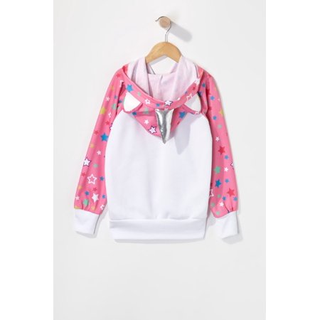 Urban Kids Youth Girls Caticorn Star Character Popover Hoodie - image 1 of 2