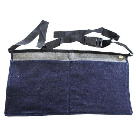 Blue Denim Waist Apron with 2 Large - Large 2 Pocket Apron