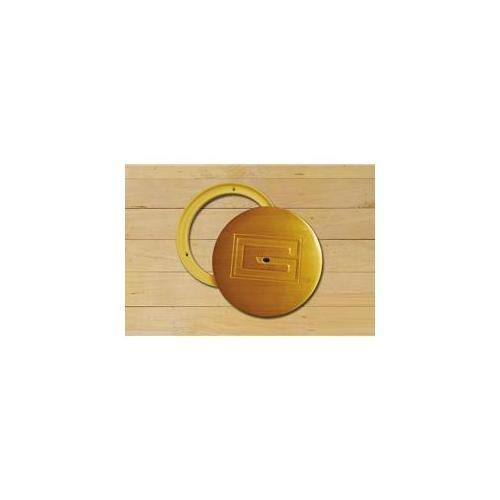 Gared Sports 6433 8 inch x 6. 63 inch Swivel Cover Plate - Chrome