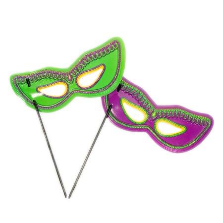 Mardi Gras Handheld Plastic Mask (Plastic Mardi Gras Masks)