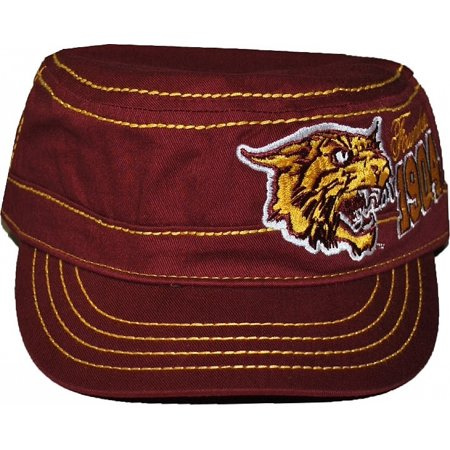 Big Boy Bethune Cookman Mascot S3 Mens Captains Cadet Cap [Maroon - Adjustable] - Cheap Captain Hats
