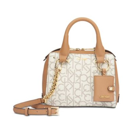 CK Boxy Mini Bag Almond KhakiBuffGold