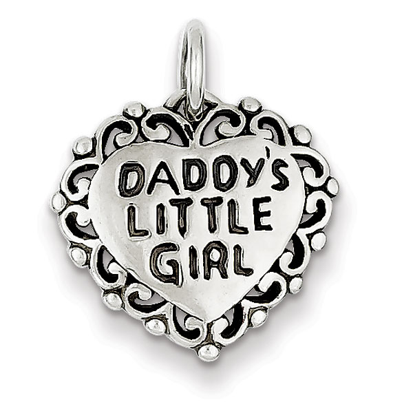 Sterling Silver Antiqued Daddy's Little Girl