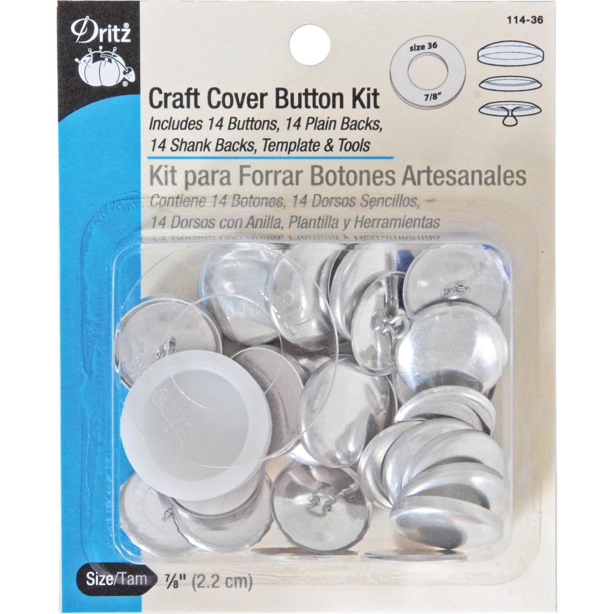 Dritz 114-36 Craft Cover Button Kits-Size 36 14//Pkg