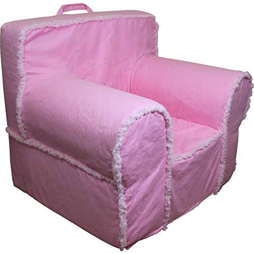 CUB CHAIRS Comfy Regular Pink Suede Sherpa Chair Kid's Chair with Machine Washable Removable Cover