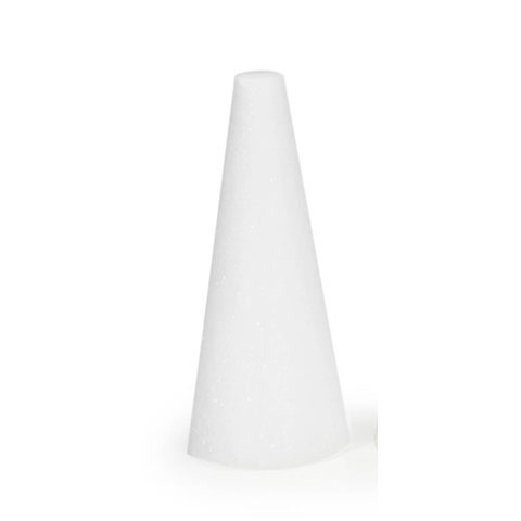 "Make It Fun Styrofoam 9"" x 4"" White Cone, 1 Each"