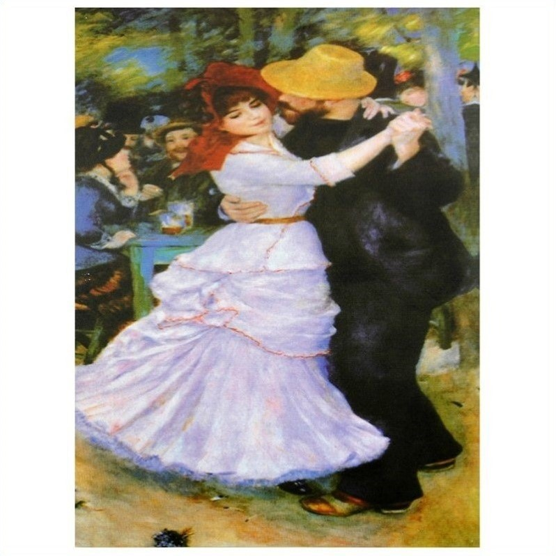 Dance at Bougival Canvas Wall Art
