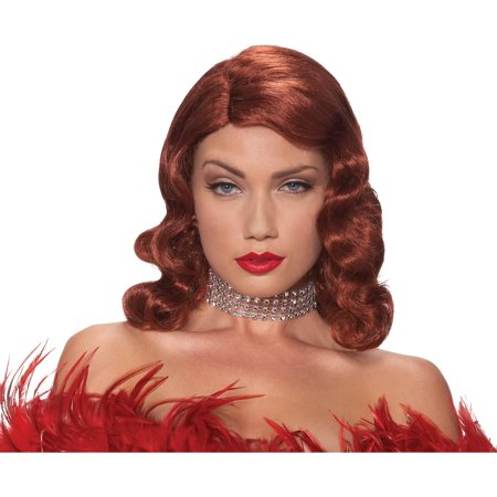 Red Wig Femme Fatale Adult Halloween Accessory