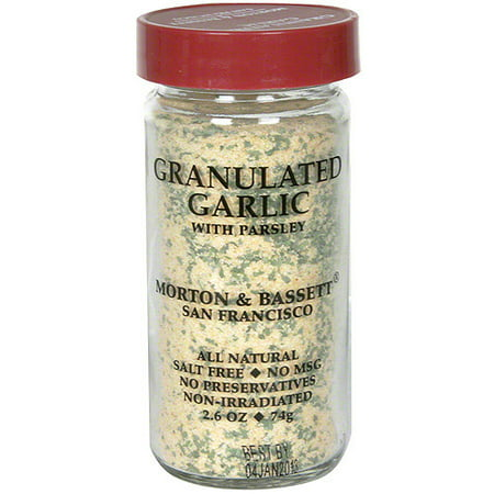 Morton & Bassett Spices Granulated Garlic With Parsley, 2.6 oz (Pack of 3)