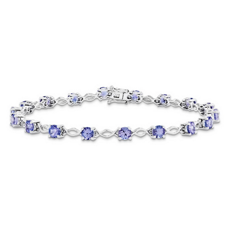 14K White Gold Tanzanite Bracelet by Kevin Jewelers