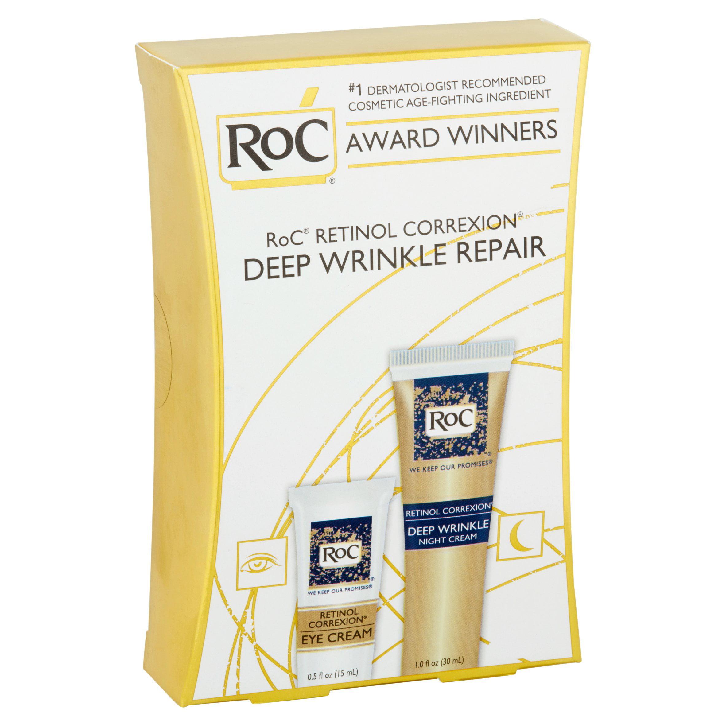 Roc Retinol Wrinkle Repair Anti Aging Kit Walmart Com Walmart Com