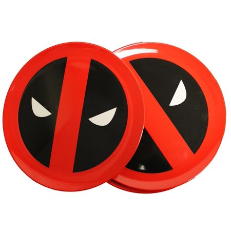 Marvel Dead Pool Round Plate 4-Piece Set