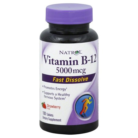 Natrol Fast Dissolving Vitamin B12 5000 mcg Tablets, 100 (Best Country Life B Vitamins)