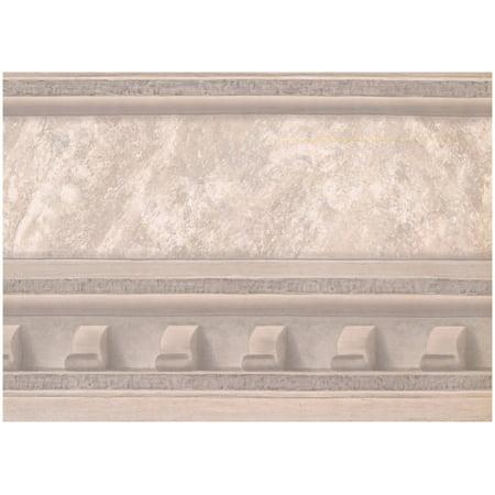 Prepasted Wallpaper Border - Victorian Faux Molding Beige Wall Border Retro Design, Roll 15 ft. x 10 in. ()