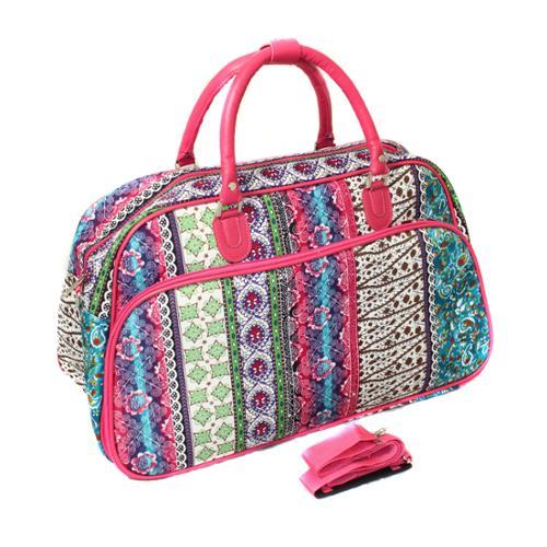 World Traveler Fashion/Travel Artisan 21-inch Carry On Shoulder Tote Duffel Bag