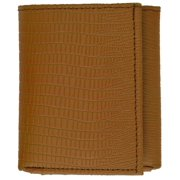 Snake Print Cowhide Leather Trifold Wallet with ID Window & Credit Card Slots 71107 SN (C)