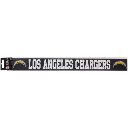 San Diego Chargers Die Cut Transfer Decal Strip - White