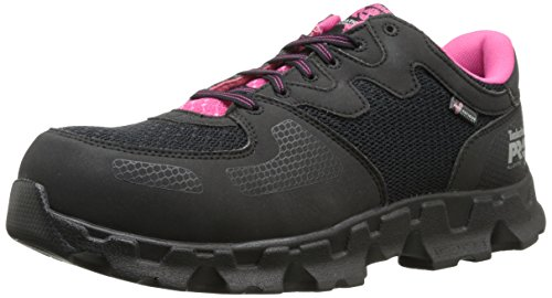 Timberland PRO Women's Powertrain Alloy Toe ESD W Industrial Shoe,Black Pink Microfiber And Textile,6.5 M US by Timberland PRO