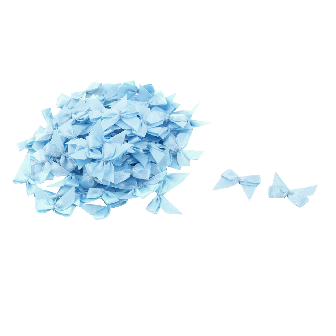 Home Polyester DIY Handcraft Clothing Shirt Scarf Bowknot Bow Light Blue 100 Pcs - image 3 de 3