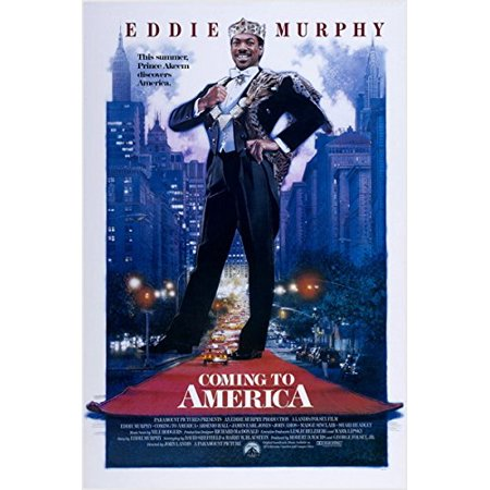 Eddie Murphy Movie Poster Coming To America Comedy New York City