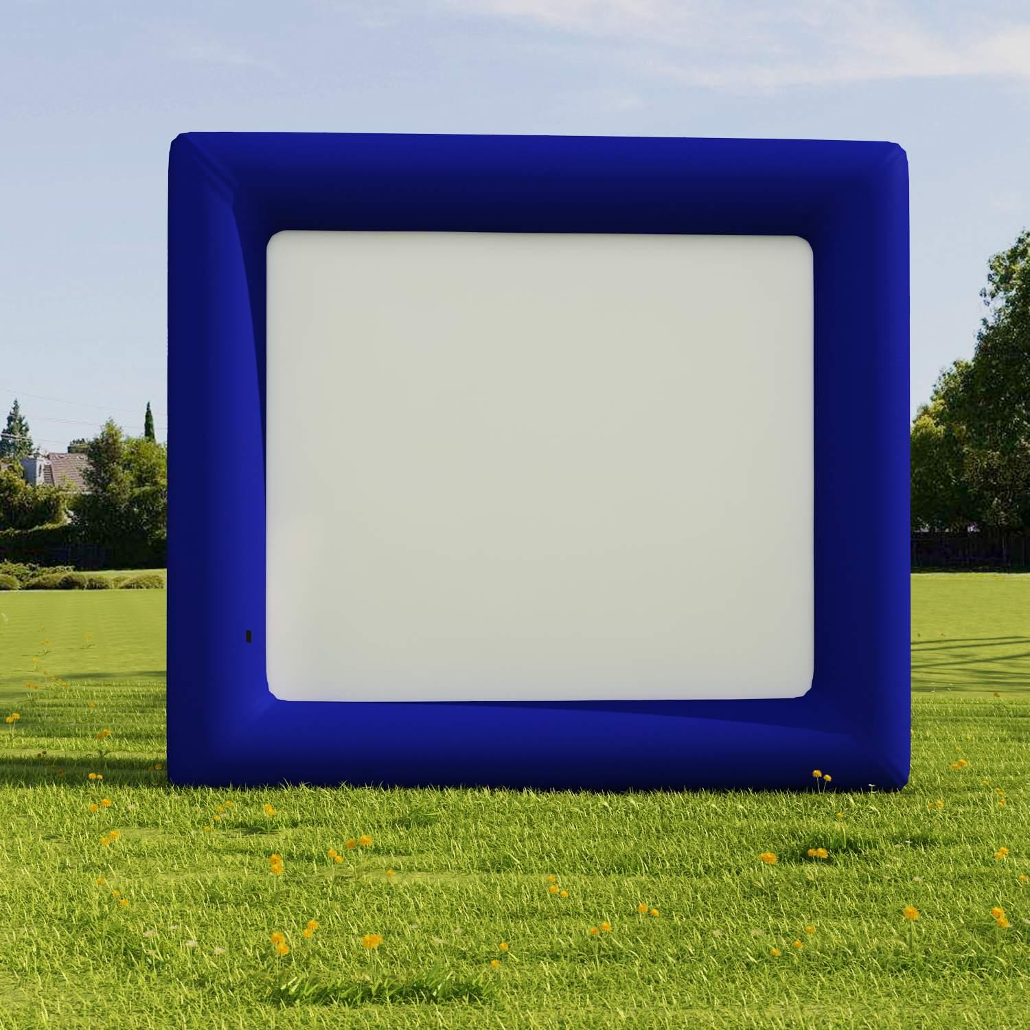 Clearance! Hascon Inflatable Movie Screen 13.1 x 11.5ft Airblown Outdoor Inflatable Movie Screen Projection Screen for Outdoor Parties (Fan pump not included)