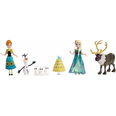 Disney Frozen Fever Birthday Party Doll Figure Set Anna Olaf Elsa Reindeer Mattel - Anna Elsa And Olaf Costumes