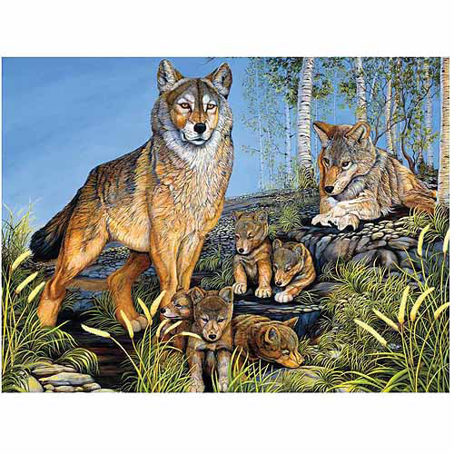 Family Varying Piece Size Puzzle, Wolves Proud Parents
