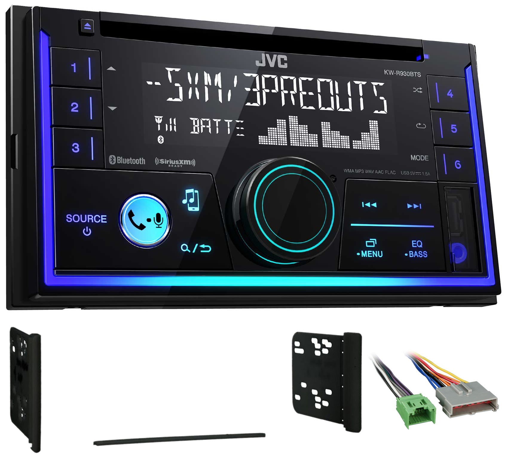JVC Stereo CD Receiver w Bluetooth USB iPhone Sirius For 1995-1997 Ford Explorer by JVC