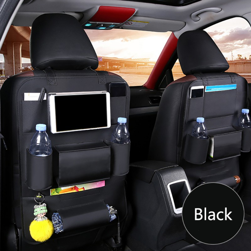 Smart eLf Car Seat Protector and Kick Mat Car Seat Organizer 2 Pack Seat Protectors for Child Seats Kick Mat Back Seat with Storage Pockets