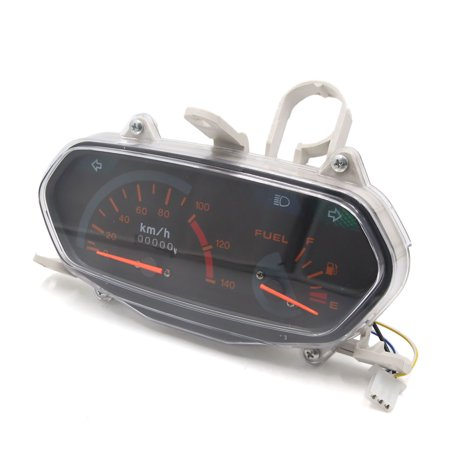 Motorcycle Scooter 0-140Km/h Odometer Speedometer Gauge Meter DC 12V 3W for GY6