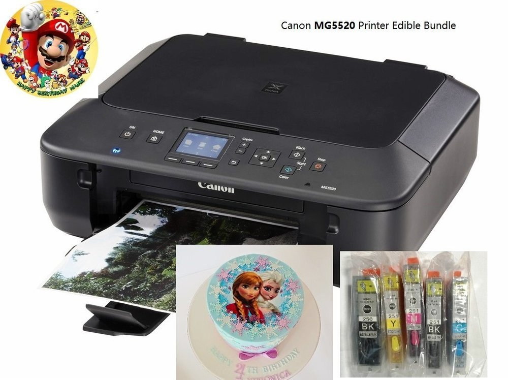 image about Printable Edible Paper named Edible Printer Package- Model Refreshing MG5520 Printer with Edible Paper and Inks