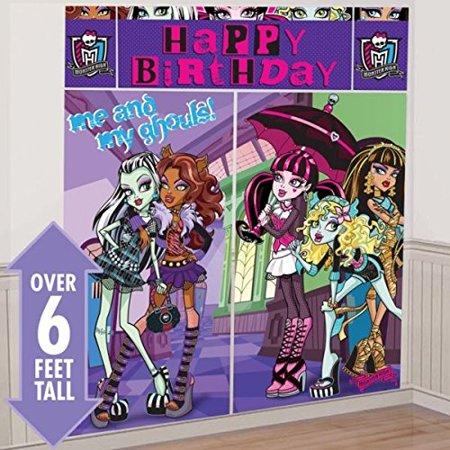 Monster High Shopping (Monster High Scene Setter Birthday Party Decorating Kit (5 Pack), 59