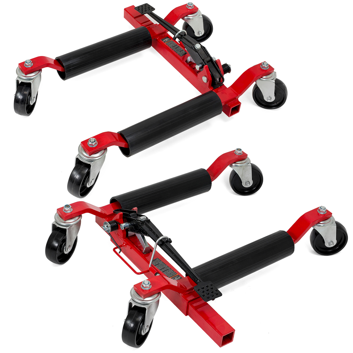 Car Wheel Dolly >> Xtremepowerus Set Of 2 Wheel Dolly Car Skates Vehicle Positioning
