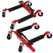 XtremepowerUS Set of (2) Wheel Dolly Car Skates Vehicle Positioning Hydraulic Tire Jack Ratcheting Foot Pedal Lift Car Wheel Dolly, 1,250lbs