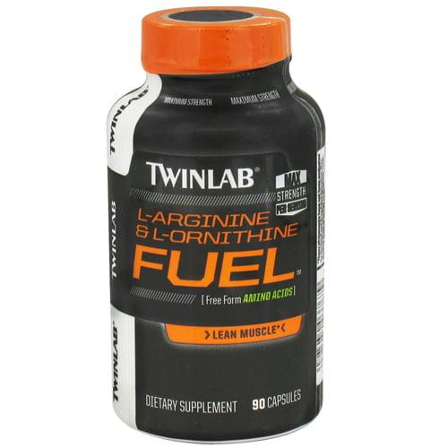 Twinlab L-Arginine And L-Ornithine Fuel Capsules - 90 Ea
