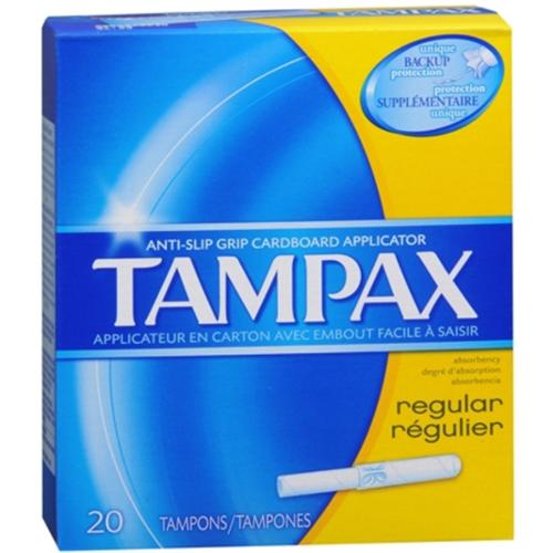 Tampax Tampons Regular 20 Each (Pack of 4)