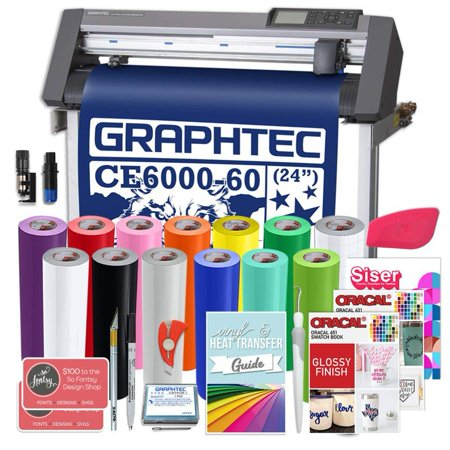 Graphtec PLUS Deluxe CE6000-60 24 Inch Vinyl Cutter, $700 in Software, 2 Year